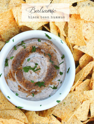 Balsamic Black Bean Hummus by FamilySpice.com