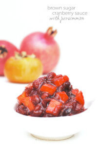 Cranberry Sauce with Persimmon and Brown Sugar by FamilySpice.com