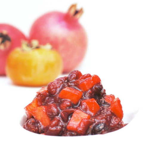 Cranberry Sauce with Persimmon and Brown Sugar