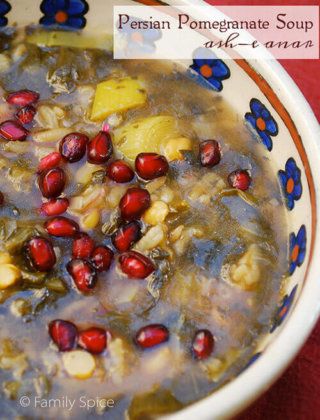 Persian Pomegranate Soup (Ash-e Anar)