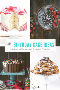 Collage of easy birthday cakes by FamilySpice.com