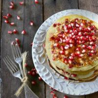 Pomegranate Yogurt Pancakes