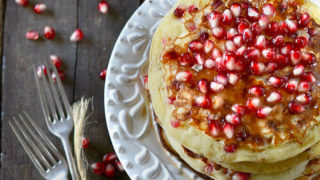 Pomegranate Yogurt Pancakes