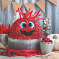 Red Vine Monster Cake