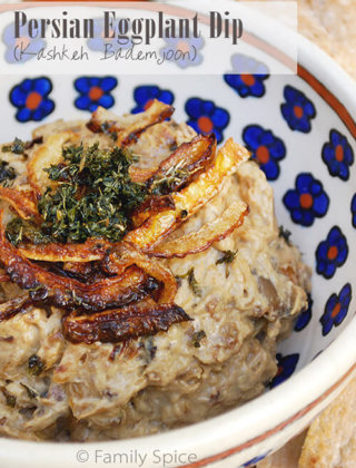 Persian Eggplant Dip (Kashkeh Bademjoon) and the Middle-Eastern Mezze