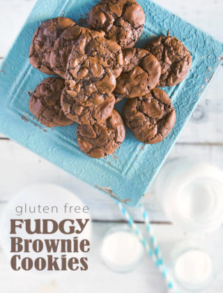 Gluten-Free Fudgy Brownie Cookies by FamilySpice.com