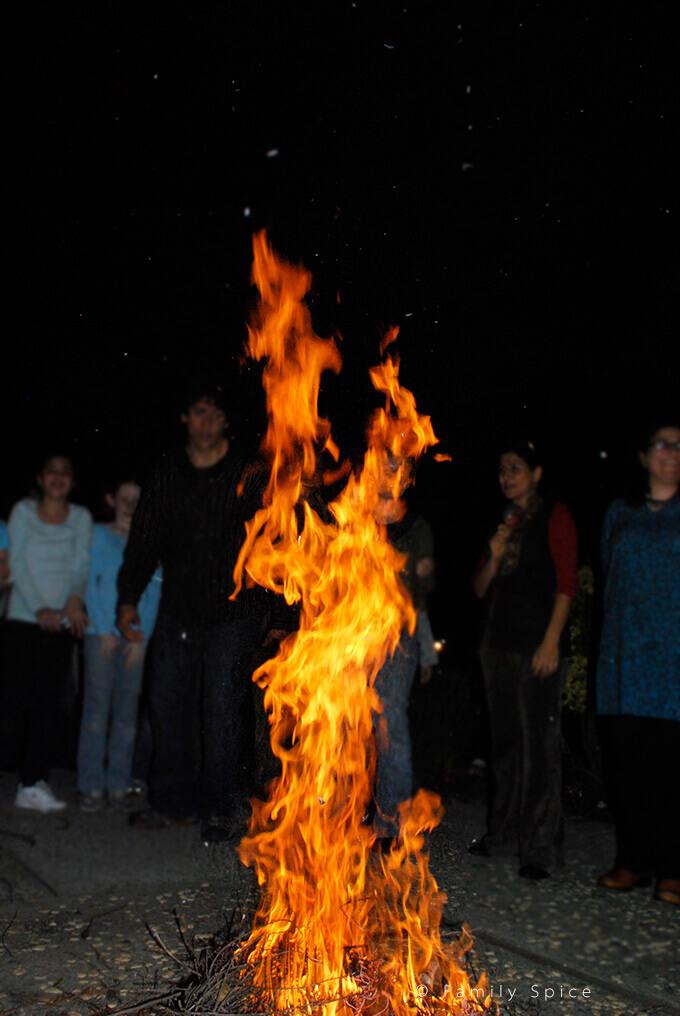 Fires for chahar shanbeh soori by FamilySpice.com