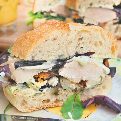 Ina Garten Chicken Caesar Club Sandwich