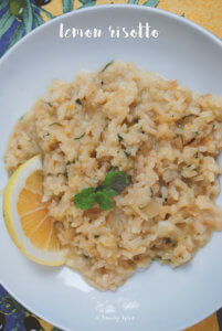 Lemon Risotto with Mint by FamilySpice.com