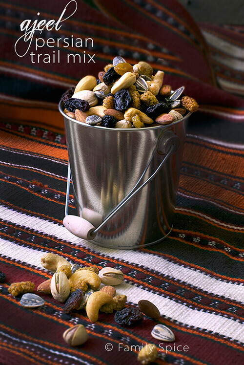 Ajeel (Persian Trail Mix) and Chahr-Shanbeh Souri by FamilySpice.com