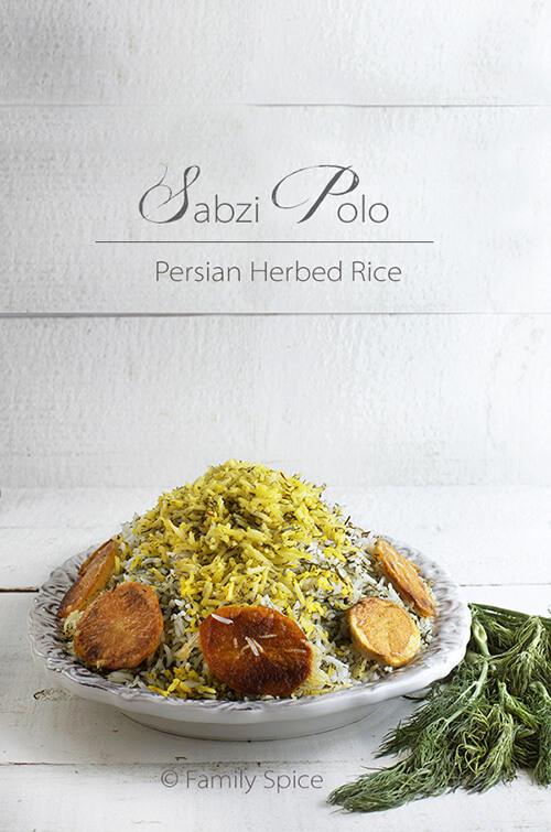 Persian Herbed Rice (Sabzi Polo) by FamilySpice.com
