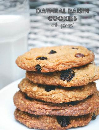 Ina Garten's Oatmeal Raisin Cookies with Pecans