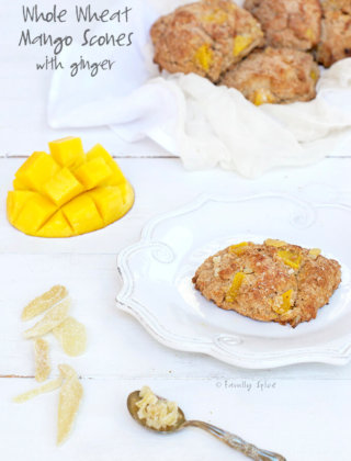 Nutrition Maximized with Whole Wheat Mango Scones with Ginger by FamilySpice.com