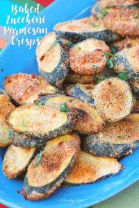 Baked Zucchini Parmesan Crisps by FamilySpice.com