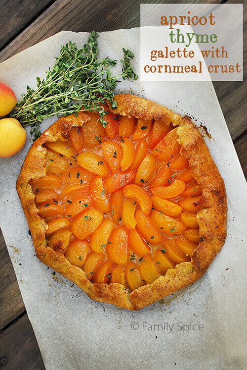 Apricot Thyme Galette with Cornmeal Crust