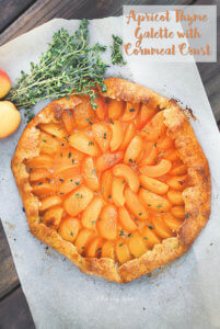 Apricot Thyme Galette with Cornmeal Crust by FamilySpice.com