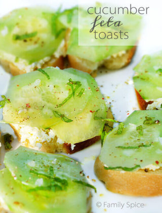 Cucumber Feta Toasts and The Daring Kitchen