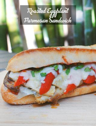 Roasted Eggplant Parmesan Sandwich by FamilySpice.com