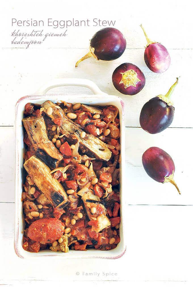 Persian Eggplant Stew (khoresh bademjan ba ghooreh) by FamilySpice.com
