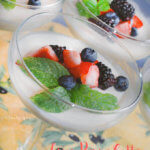 Lemon Panna Cotta with Fresh Berries by FamilySpice.com
