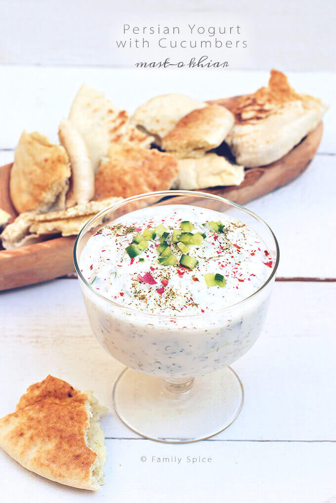 Persian Yogurt with Cucumber (Mast-o Khiar) by FamilySpice.com