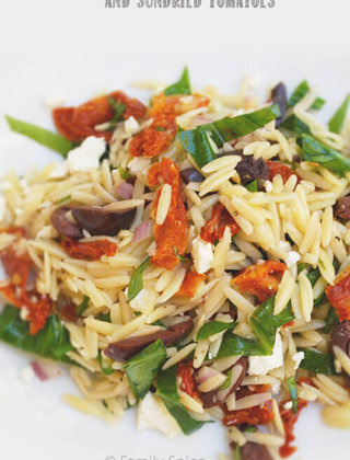 Orzo with Feta and Sundried Tomatoes