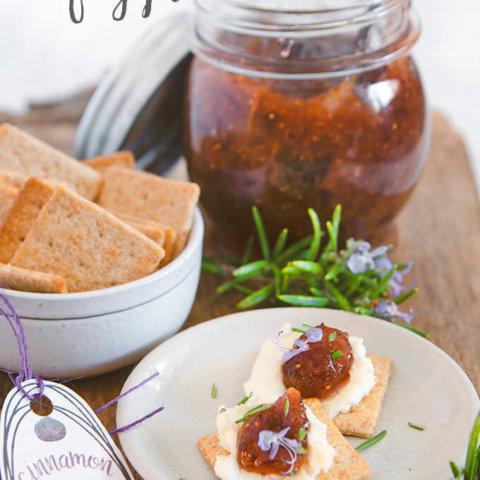 Cinnamon Fig Jam with Orange Zest