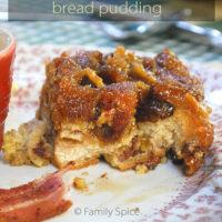 Croissant Bread Pudding by FamilySpice.com
