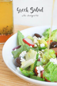 Greek Salad with Vinaigrette by FamilySpice.com