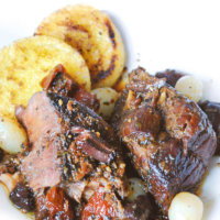 Dutch Oven Kalamata Olive and Sundried Tomato Pot Roast