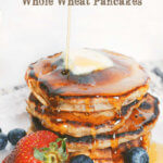 Banana Chocolate Chip Whole Wheat Pancakes by FamilySpice.com