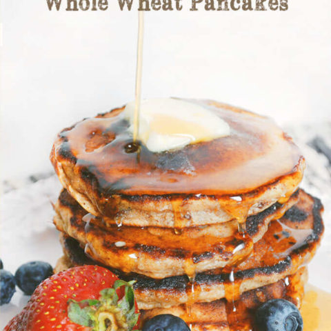 Banana Chocolate Chip Whole Wheat Pancakes