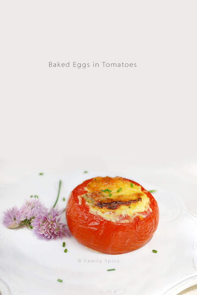 Baked Eggs in Tomatoes by FamilySpice.com