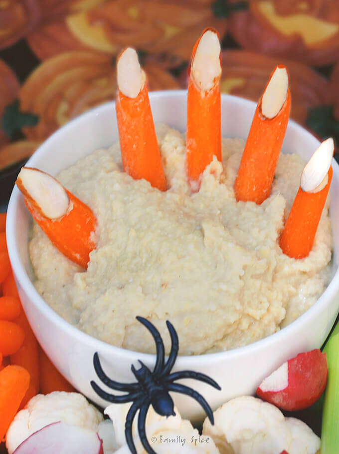Halloween Hummus by Familyspice.com