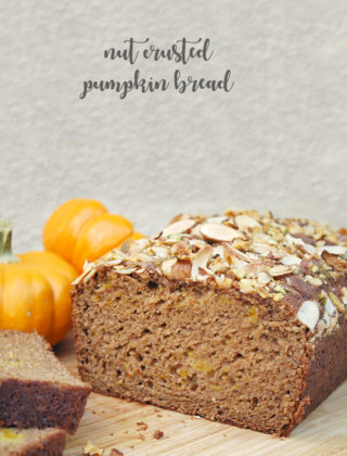 Baking with Olive Oil and a Nut Crusted Pumpkin Bread by FamilySpice.com