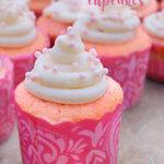 Pretty in Pink Strawberry Cupcakes by FamilySpice.com