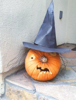 A witch pumpkin by FamilySpice.com