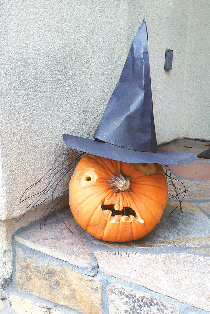 A witch pumpkin by FamilySpice.com