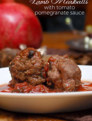 Lamb Meatballs with Tomato Pomegranate Sauce