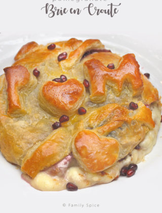 My Very Special POM Party and Pomegranate Brie en Croute