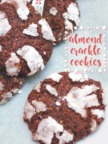 Almond Crackle Cookies by FamilySpice.com