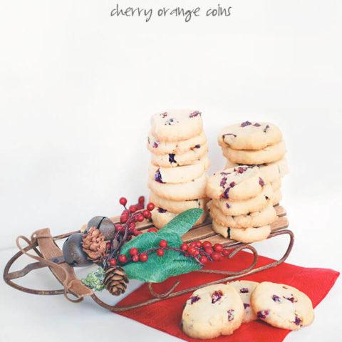 25 Days of Cookies: Cherry Orange Coins