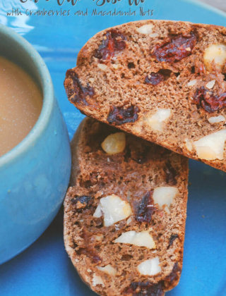 Chocolate Biscotti with Cranberries and Macadamia Nuts by FamilySpice.com