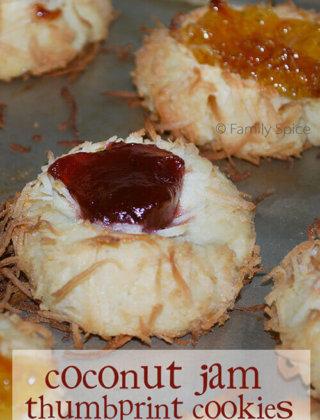 25 Days of Cookies: Coconut Jam Thumbprint Cookies