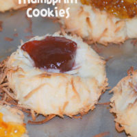 Ina Garten Coconut Thumbprint Cookies with Jam