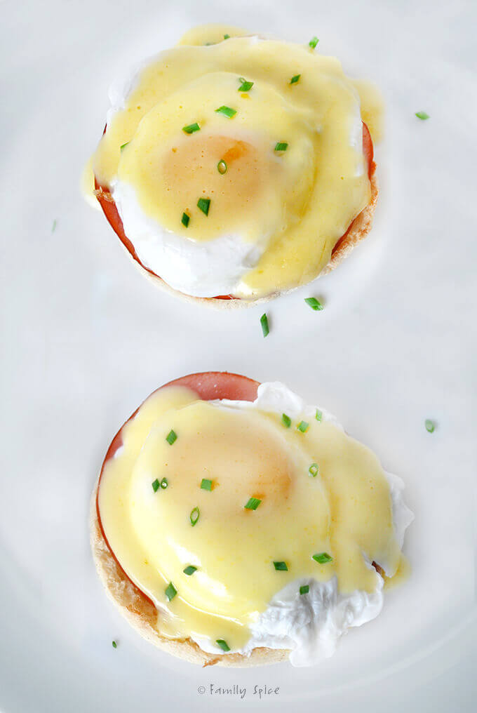 Eggs Benedict with Hollandaise Sauce by FamilySpice.com