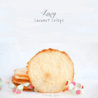 Lacy Thin Coconut Crisps Cookies