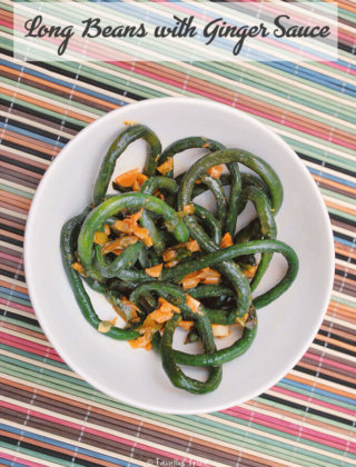 Long Beans with Ginger Sauce by FamilySpice.com
