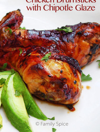 Football Eats: Drumsticks with with Chipotle Glaze