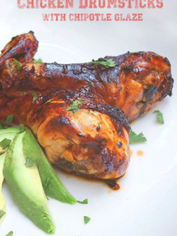 Whether you need a snack while watching the big game or you need a quick weeknight meal, these Chicken Drumsticks with with Chipotle Glaze fit the bill. -- FamilySpice.com
